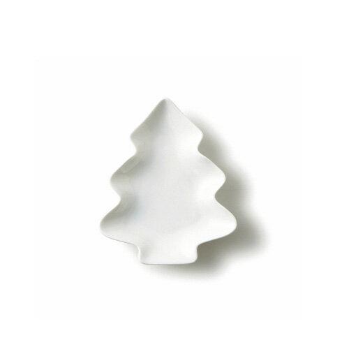 【スーパー アウトレット】ツリープレート 大 日本製 磁器 白い食器 小皿 豆皿 木 プチシリーズ 白 食器