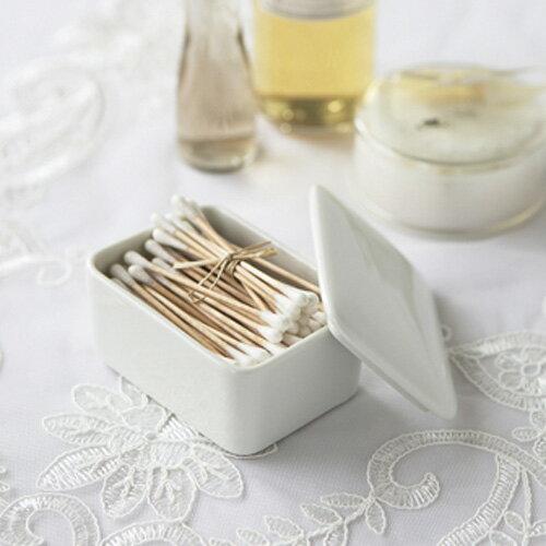 MuMuu(ムームー)セラミック綿棒ケース (アウトレット含む)日本製 磁器 雑貨 小物 おしゃれ 綿棒 陶器 コットン ヘアピン ケース つまようじ入れ 爪楊枝 めんぼう お香 蓋物