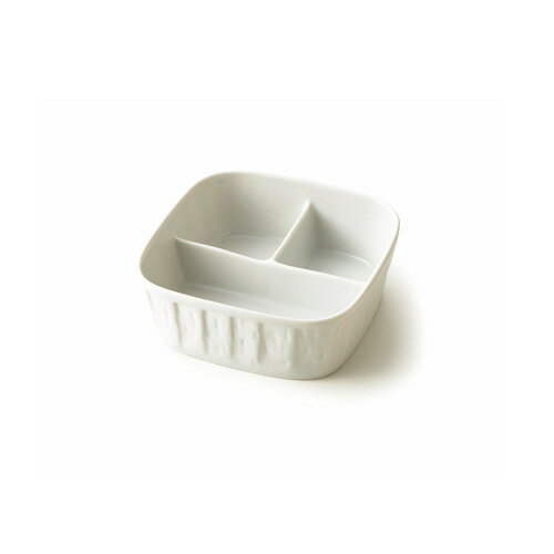 【SUPER OUTLET】ディープ ランチプレート 3つ仕切り【日本製 磁器】【白い食器 前菜皿 3品皿 子供食器 お子様 離乳食 食器 仕切り鉢】【RCP】