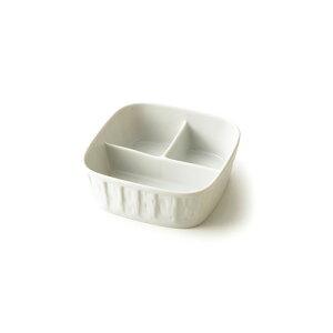 3つ仕切りディープランチ(アウトレット含む)日本製 ランチプレート 子供 ランチプレート 深め ランチプレート 陶器 食器 白 磁器 3品皿 白い食器 仕切り皿 陶器 子供食器 お子様ランチプレー