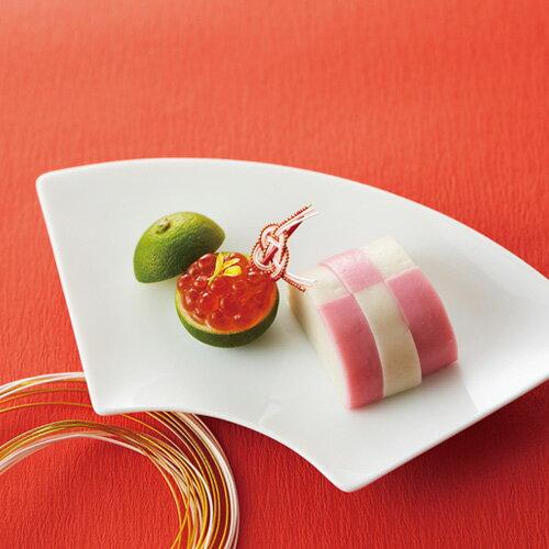 扇 プレート 大サイズ(アウトレット含む) 食器 日本製 磁器 白い食器 おうぎ 皿 白 ポーセリンアート 陶絵付け お皿 お正月 ひなまつり 縁起物 恵方巻