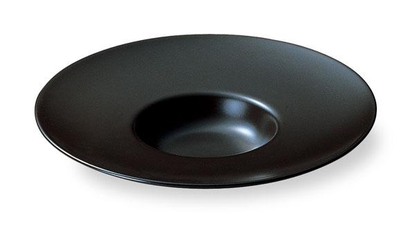 スープセレクション ワイドリム 26cm 平型スープ 皿(黒マット) 黒い食器 cafe カフェ 食器 おしゃれ 業務用 日本製