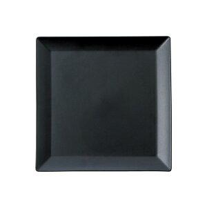 黒マットスクエア正角皿19cm