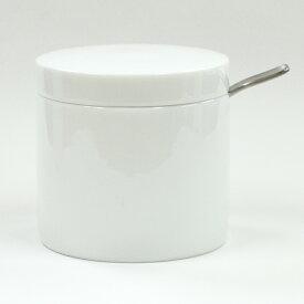 P&S 白磁 シュガーポット スプーン付き 砂糖入れ 日本製