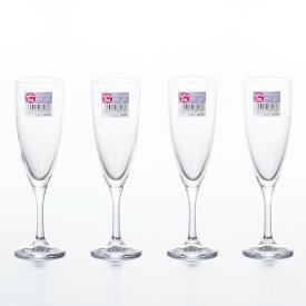 フラネ シャンパングラス 4個セット 【アデリア ADERIA 石塚硝子】 日本製