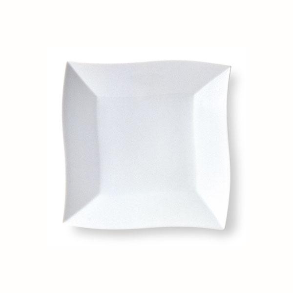 波形 19cm正角皿 【白い食器 レストラン カフェ 食器 業務用食器 日本製】