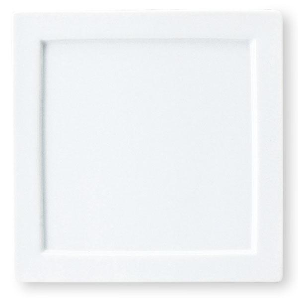 組皿シリーズ 24cmリム付正角皿 【白い食器 レストラン カフェ 食器 業務用食器 日本製】
