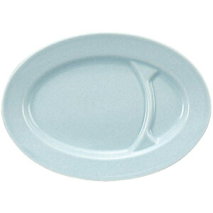 """青磁中華 10""""仕切小判 (26.2cm 餃子皿) 中華食器 業務用 ギョーザ 日本製"""