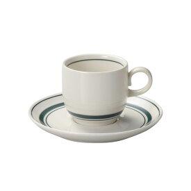 スノートングリーン コーヒーカップ & ソーサー コーヒー碗皿 コーヒー碗 受皿 カントリー cafe カフェ 食器 おしゃれ オシャレ 業務用 日本製