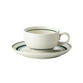 スノートングリーン ティーカップ & ソーサー 紅茶碗皿 紅茶碗 受皿 カントリー cafe カフェ 食器 おしゃれ オシャレ 業務用 日本製