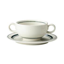 スノートングリーン ブイヨン碗 & パン皿 カントリー cafe カフェ 食器 おしゃれ オシャレ 業務用 日本製