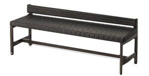 ベンチ YB-112L-PE1500(背付)山崎産業 アルミ縁台 アルミデッキ縁台 ガーデンチェア ガーデンベンチ 縁台 ぬれ縁台