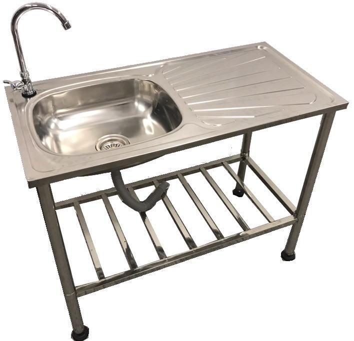 屋外用ステンレス流し台 水栓付 ガーデン流し台 簡易 流し台 屋外 ガーデンシンク 流し台 シンク(倉出し)