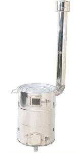グリーンライフ ステンレスクッキングストーブ SCS-60 薪ストーブ 七輪 卓上 バーベキューコンロ 焼却炉 家庭用
