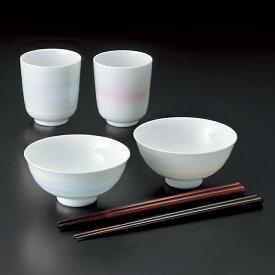 送料無料 和食器 たち吉 幸 夫婦揃 箸付 503-0289 夫婦湯呑 夫婦茶碗 箸 セット たちきち