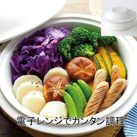 たち吉 らくらく スチーマー (ホワイト) 1個 1002270040 電子レンジ専用 機能食器 和食器 こころのたね。yasuyo コラボ レシピ付き