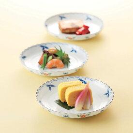 たち吉 はるか 中皿 5枚 947-0755 白 小花 菊形 皿 セット 美濃焼 おうちごはん 和食器 たちきち