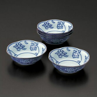 Stand; good luck crest of a Chinese flower pattern food boiled and seasoned bowl 05P02Aug14