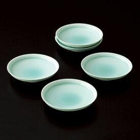 和食器 たち吉 月の雫 菓子皿 5枚 セット 500-0086 皿 有田焼 青白磁 和菓子 フルーツ 取り皿 たちきち