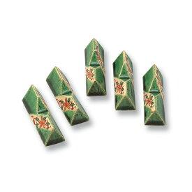 和食器 たち吉 緑彩赤絵 箸置 303-0156 たちきち