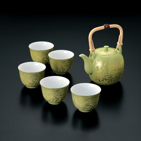 送料無料 和食器 たち吉 萌葱金彩 茶器 209-0207 おもてなし お茶 接客 たちきち