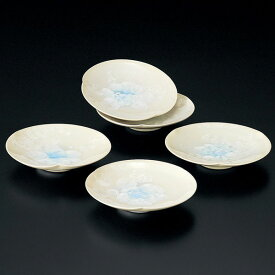 送料無料 和食器 たち吉 月華 菓子皿 5枚 043-0008 小皿 セット おしゃれ たちきち