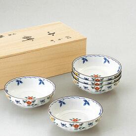 たち吉 ギフト はるか 小鉢 5個 桐箱入 947-0250 菊形 小花 美濃焼 小鉢 おうちごはん 和食器 たちきち