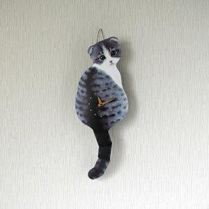 しっぽをふる猫時計子猫スコティッシュフォールド1700860010藤井啓太郎猫時計たち吉セレクト