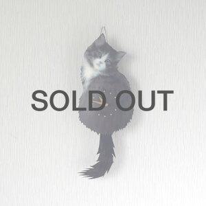 しっぽをふる猫時計子猫ノルウェージャンフォレストキャット1700860011藤井啓太郎猫時計たち吉セレクト