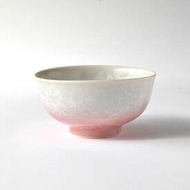 京焼・清水焼 花結晶 茶碗(小・白地赤)1個 1830122025 和食器 たち吉セレクト 飯碗 飯茶碗