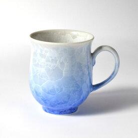 京焼・清水焼 花結晶 マグカップ(白地青) 1830120029 和食器 たち吉セレクト 食器