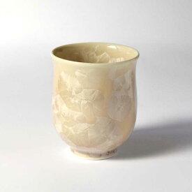 京焼・清水焼 花結晶 湯呑(小・茶)1個 1830122022 和食器 たち吉セレクト 湯飲み