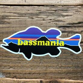 バスマニア(bassmania) Mountain BASSステッカー【ネコポス配送可】