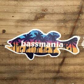 バスマニア(bassmania) aloha BASSステッカー 【ネコポス配送可】 アロハ バスステッカー