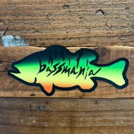 バスマニア(bassmania) ホットタイガーBASSステッカー【ネコポス配送可】