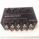 オーディオステレオミキサー各ボリューム付き RCAコネクタ4in1