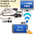 スマホミラーリングワイヤレスでディスプレイHDMIへDLNAAirplayMiracast対応ANYCAST
