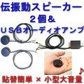 伝振動スピーカー2個&USBオーディオアンプのセット