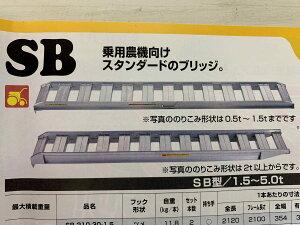 昭和ブリッジ アルミブリッジ SB型1.5t/セット SB-300-30-1.5