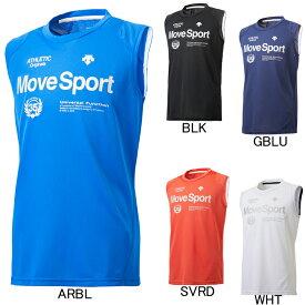2018年モデル【デサント】Move Sport クールトランスファー ノースリーブシャツ DMMLJA54N プラクティスシャツ メンズ セール