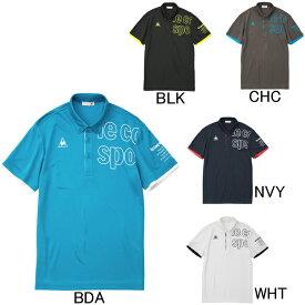 2019年春夏モデル【ルコック】le coq sportif ボタンダウン 半袖ポロシャツ QMMNJA41 ゴルフ・ランニング・フィットネス メンズ