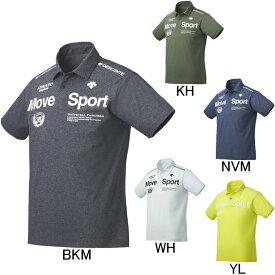 2019年春夏モデル【デサント】Move Sport タフTポロシャツ DMMNJA79 半袖ポロシャツ ゴルフ フィットネス メンズ