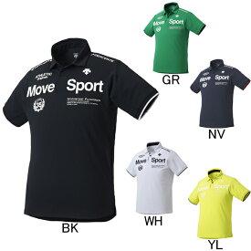 2019年春夏モデル【デサント】Move Sport タフポロライト 半袖ポロシャツ DMMNJA78 ゴルフ フィットネス メンズ