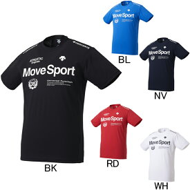 2019年春夏モデル【デサント】Move Sport サンスクリーン ハイブリッド半袖Tシャツ DMMNJA56 フィットネス ランニング メンズ