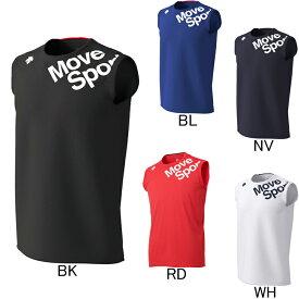 2020年春夏モデル【デサント】Move Sport ドライトランスファー ノースリーブシャツ DMMPJA52 プラクティスシャツ タンクトップ メンズ