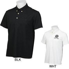 【SKINS】スキンズ ロゴ刺繍 ボタンダウン半袖ポロシャツ SAF2502 ゴルフ フィットネス メンズ セール