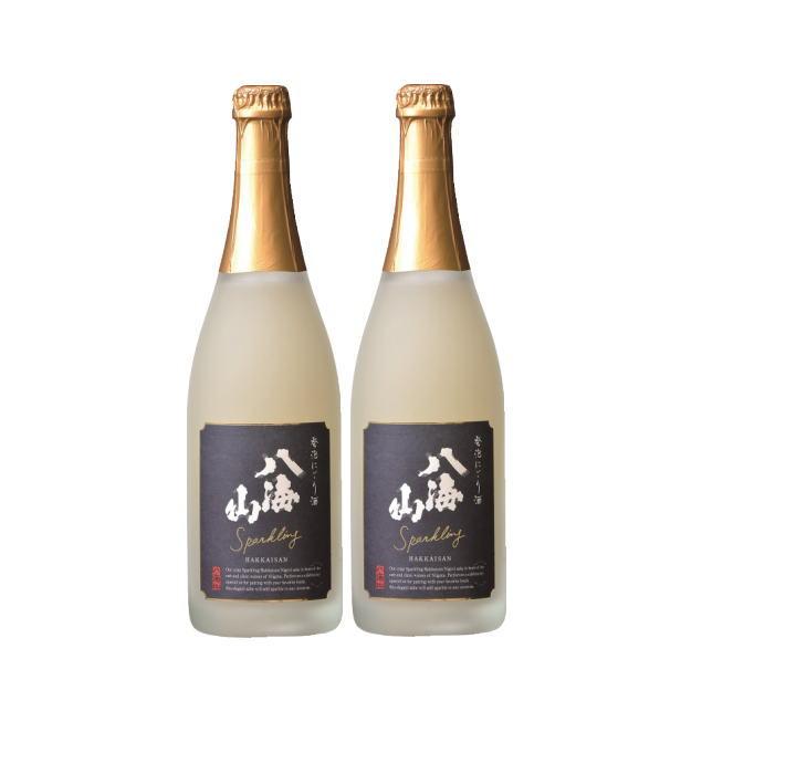 八海山 発泡にごり酒 720ml 2本ギフトセット【八海醸造】【スパークリング日本酒】【宅配用箱代・のし無料】【送料無料】【誕生日・お祝い・お中元などのギフトセットに】