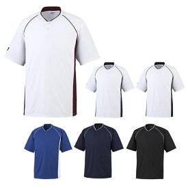 【asics】アシックス ベースボールシャツ 2ボタン bad013 【メール便対応商品】