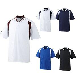 【asics】アシックス ベースボールシャツ 2ボタン bad014 【メール便対応商品】