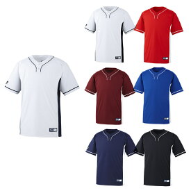 【asics】アシックス ベースボールシャツ 2ボタン bad021 【メール便対応商品】